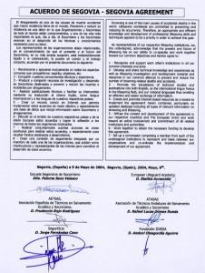 Acuerdo Segovia